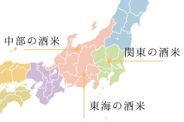 関東 東海 中部の酒米